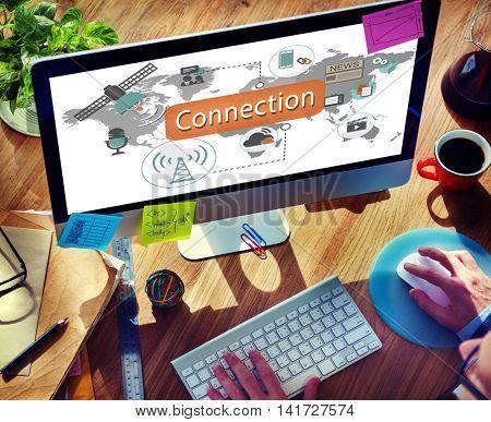 Connection Communication Interconnection Concept
