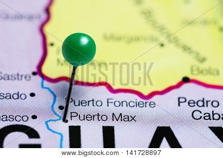 Puerto Max pinned on a map of Paraguay