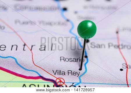 Villa Rey pinned on a map of Paraguay