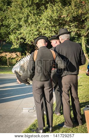 Traditional Accordionist From West Of The France