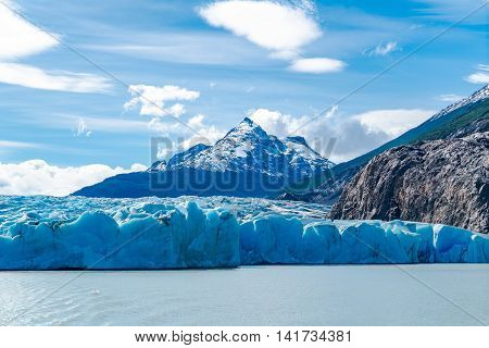 Lago Grey and Grey Glacier one of the largest ice fields outside of the poles Chile