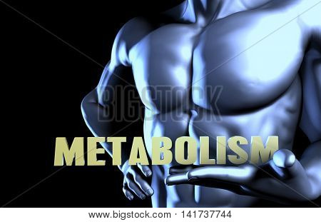 Metabolism With a Business Man Holding Up as Concept 3d Render