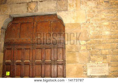 Door of church Dante