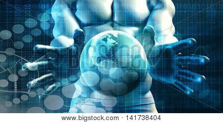 Data Management Information as a Concept Art 3d Render
