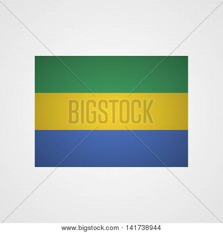 Gabon flag on a gray background. Vector illustration