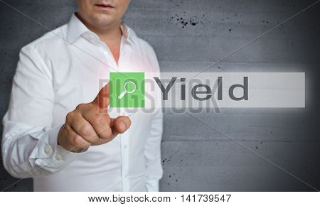 Yield Browser Is Operated By Man Concept
