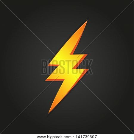 Lightning on a black background. Vector illustration eps10