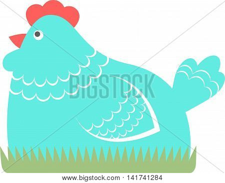 Chicken vector illustration on a white background