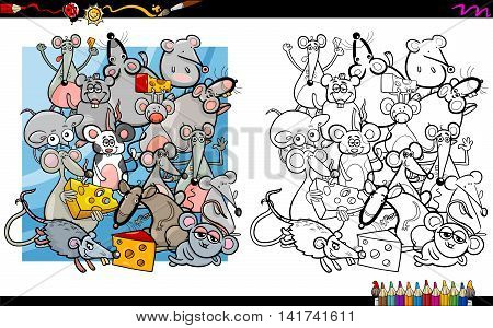 Mouse Characters Coloring Book