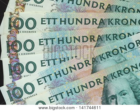 100 Swedish Krona (sek) Notes, Currency Of Sweden (se)