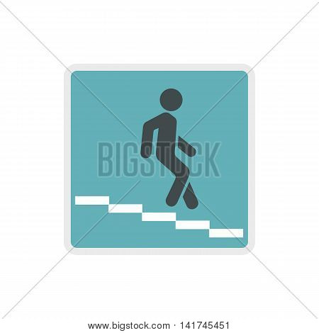 Underpass road sign icon in flat style on a white background