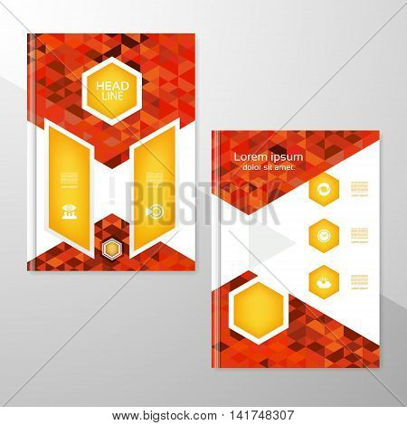 Abstract brochure or flyer design template. Book design blank print design journal. Brochure vector. Brochure template. Flyer design. Flyer template. Brochure abstract design. Brochure background