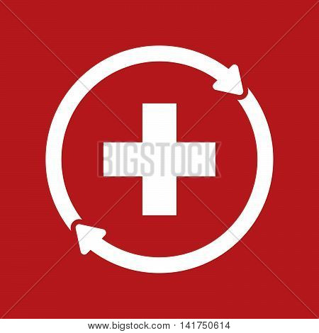 Isolated Reuse Icon With   The Swiss Flag