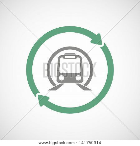 Isolated Reuse Icon With  A Subway Train Icon