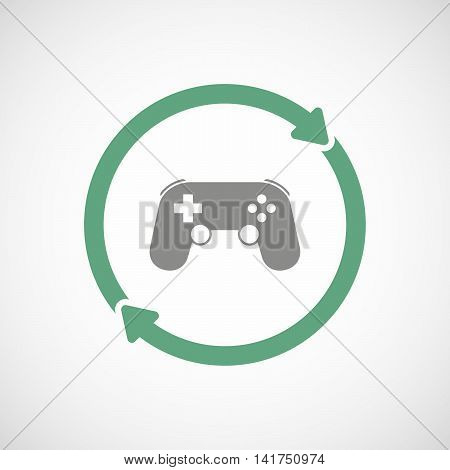 Isolated Reuse Icon With  A Game Pad