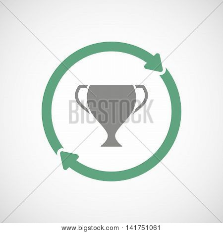 Isolated Reuse Icon With  An Award Cup