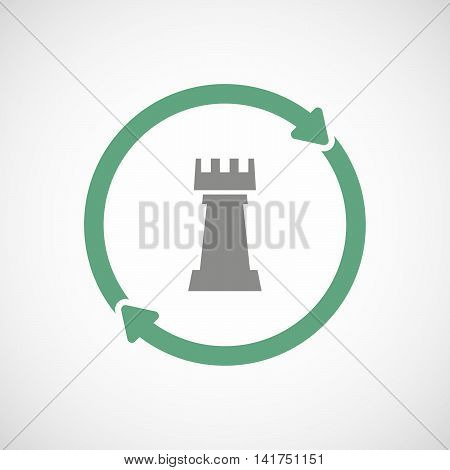 Isolated Reuse Icon With A  Rook   Chess Figure