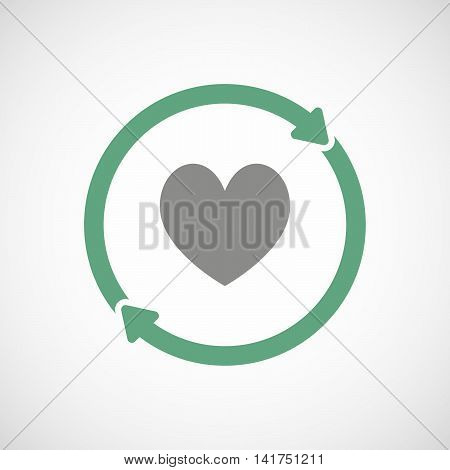 Isolated Reuse Icon With  The Heart Poker Playing Card Sign