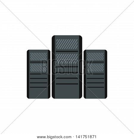 Computer system units icon in flat style on a white background