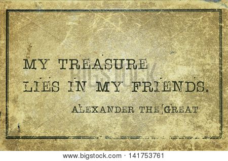 Friends Alexander The Great