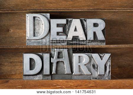 Dear Diary Tray