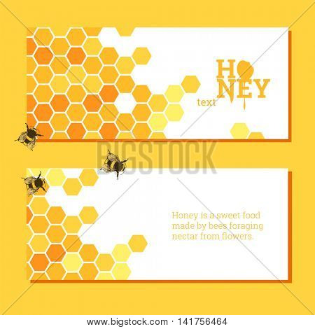Honeycombs bright vector background illustration