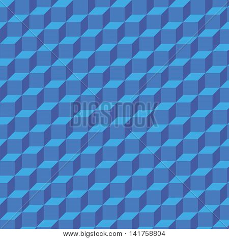 Blue 3d geometrical background out of cubes. Can be used as background of webpage, banner background, etc.