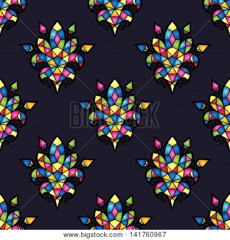 Vector mosaic background. Color tile texture seamless ornament