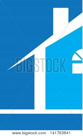 Professional Builder Realtor House Logo Template Blue