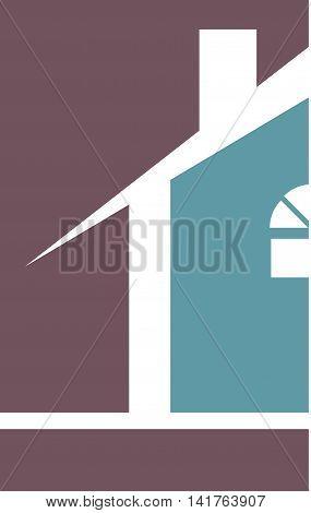 Professional Builder Realtor House Logo Template Purple Blue