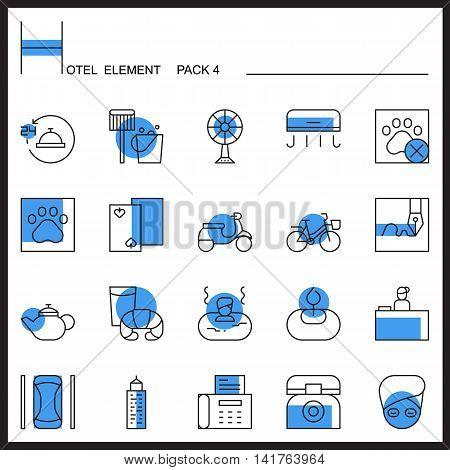 Airport Element Line Icon Set 4.Color pack.Graphic vector logo set.Pictogram design.