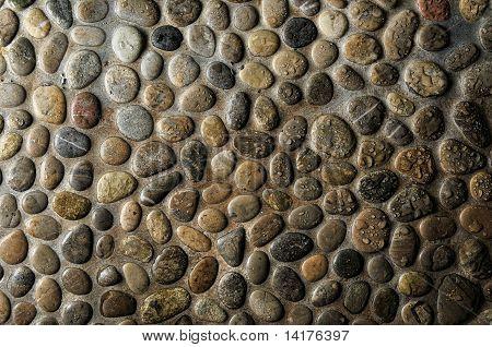 Wet Round Stone Rocks Texture