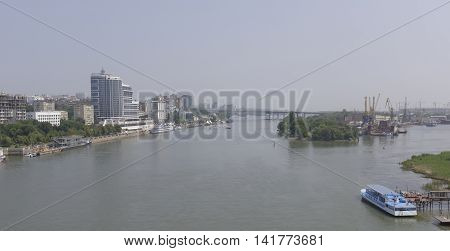 The city of Rostov-on-Don on a hot July afternoon