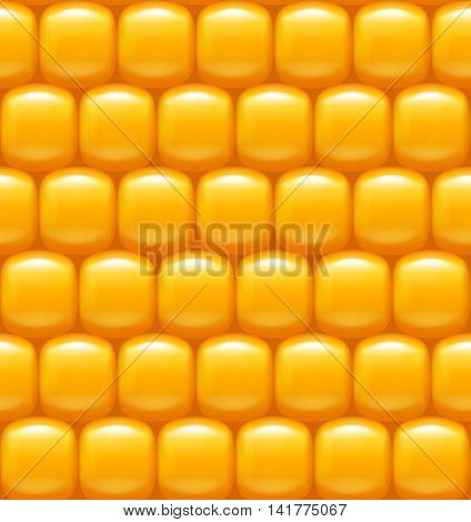illustration of vector realistic pattern gold color corn background
