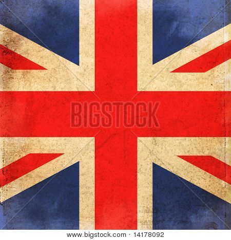 grunge style flag of united kingdom