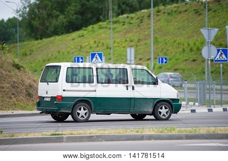 VILNIUS, LITHUANIA - JULY 3, 2016: VW Transporter T4. The Volkswagen Transporter (T4) is a van produced by the German manufacturer Volkswagen Commercial Vehicles.