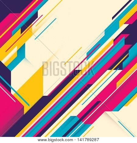 Conceptual abstract template in color. Vector illustration.