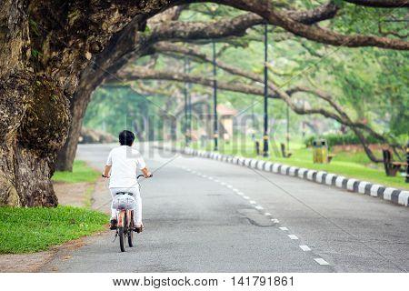 Street in Lake garden at Taiping Perak Malaysia