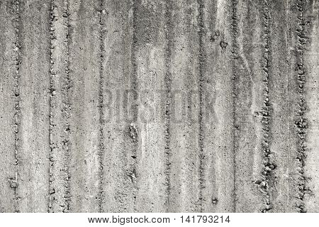 Gray Concrete Wall With Rough Formwork Relief