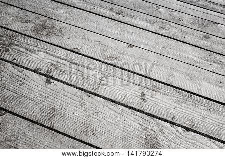 Old Gray Wooden Floor, Detailed Background