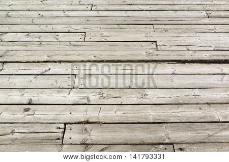 Uncolored Old Gray Wooden Floor