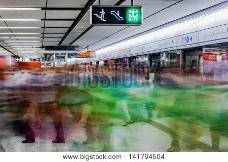 Metro Transportation Of Hong Kong City In China, Asia