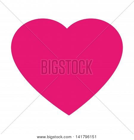 heart love romanticism , isolated flat icon design
