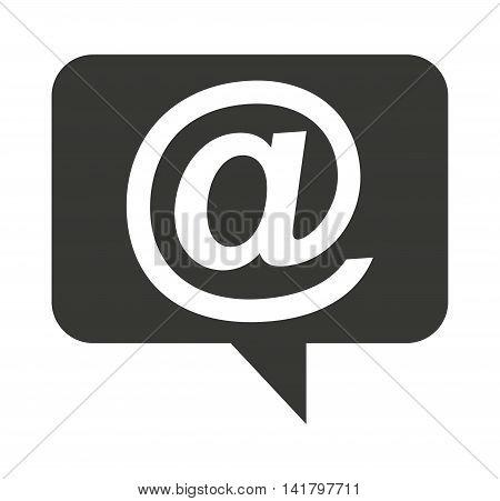 speech bubble social media icon vector illustration design