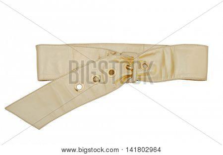 golden belt isolated on white background