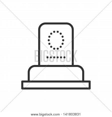 Grave thin line icon. Thin line vector illustration