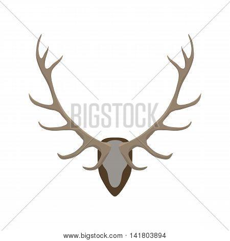 Antlers vector illustration. Deer horns color icon