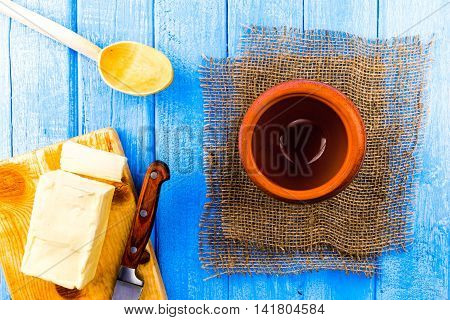Butter And Clay Pot