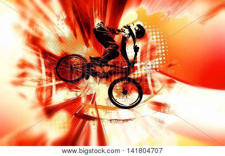 Extreme sport, bmx rider.