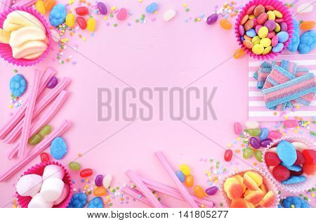 Bright Colorful Candy Background